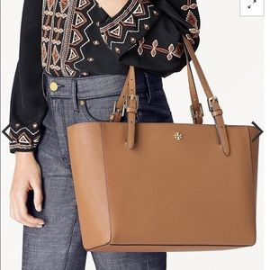 NEW Tory Burch Emerson Buckle Tote in Cardamom
